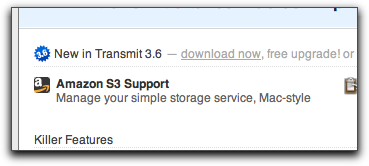 Transmit now supports Amazon S3!